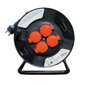 Four EU-socket Extension Cable Reel 25M