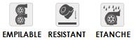 Empilable, Resistant, Etanche