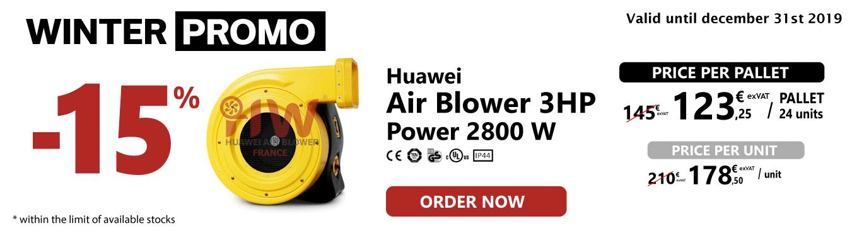 15% discount on Huawei electric fan 3HP