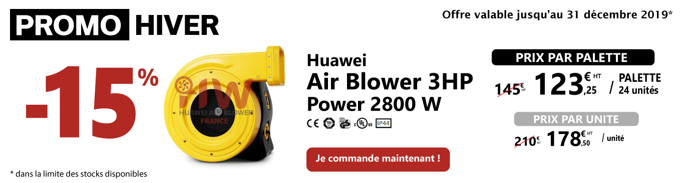 -15% sur les souffleries Air Blower 3HP 2800W